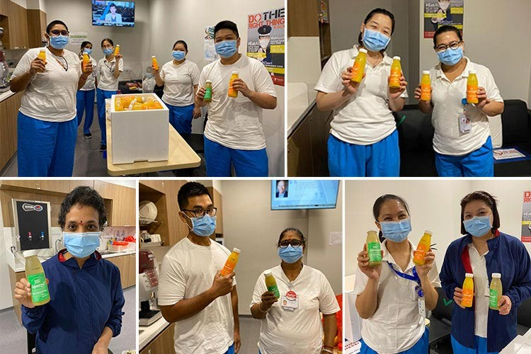 Juices for healthcare workers