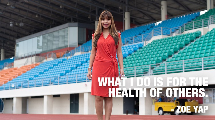 Zoe Yap. What I do is for the health of others