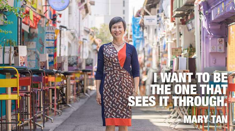 Mary Tan. I want to be the one that sees it through
