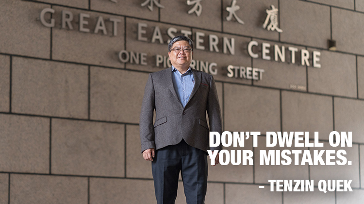 Tenzin Quek. Don't dwell on your mistakes