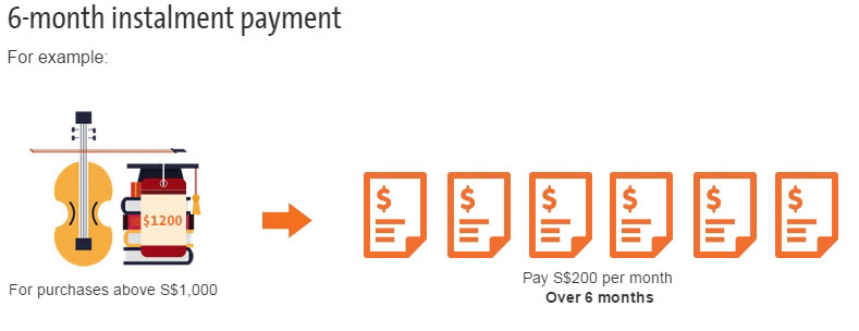 Image Of Example of Installments in Cashflo Credit card